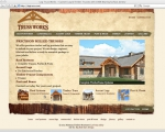 log truss web site design screenshot