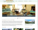 website design for glamping website