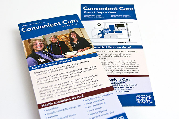 Rack Card Design for Convenient Care