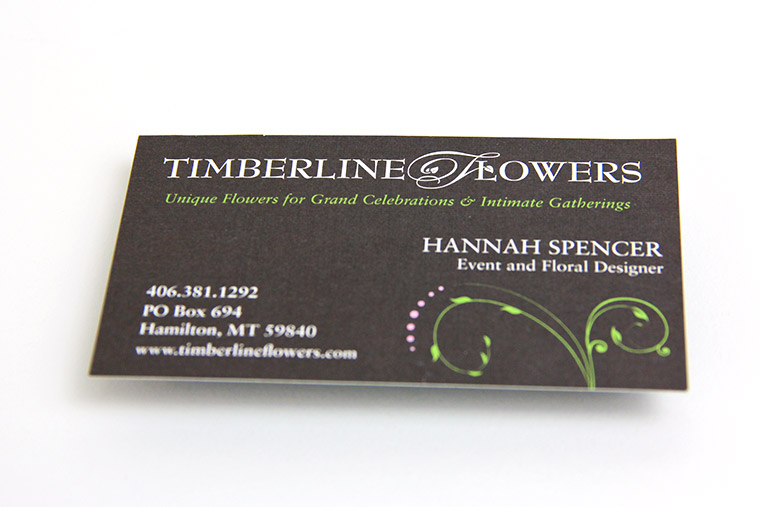 Business Card design for Timberline Flowers