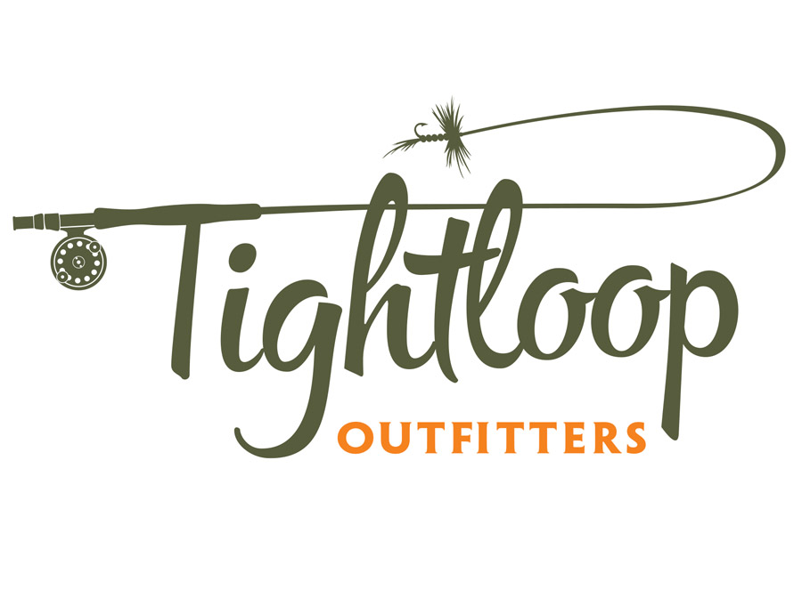 logo design for tightloop outfitters a bitterroot valley fly fishing guide